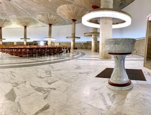 Acquasantiere in marmo per la cattedrale di La Spezia