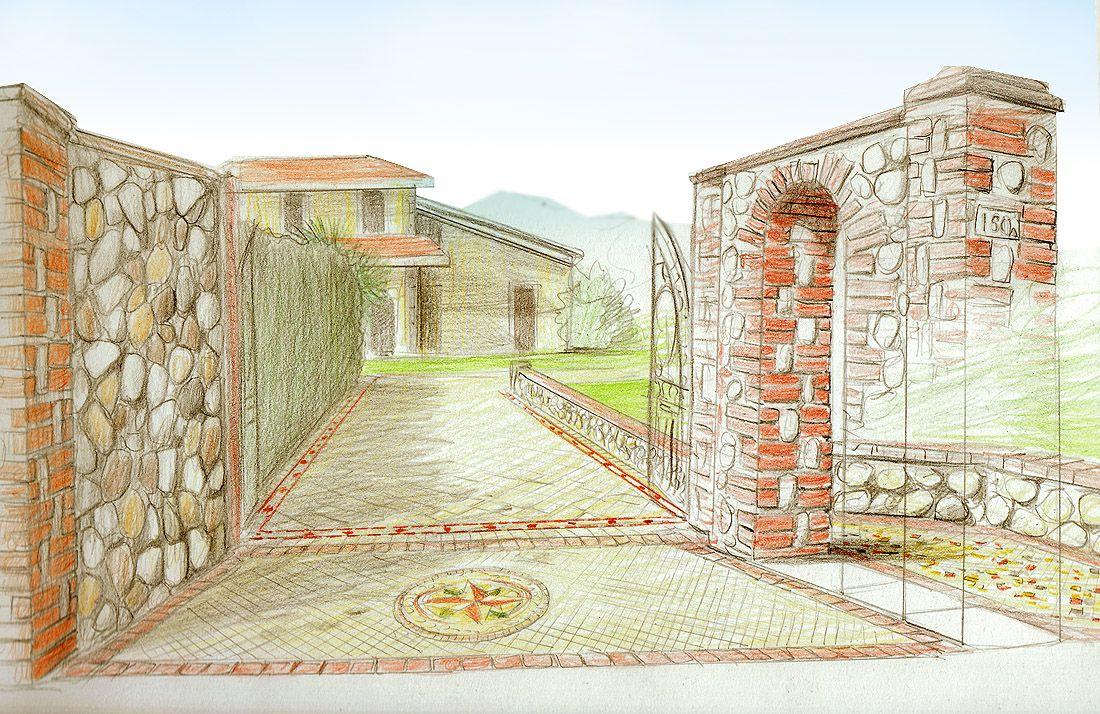 Il progetto di un ingresso con materiali di pregio