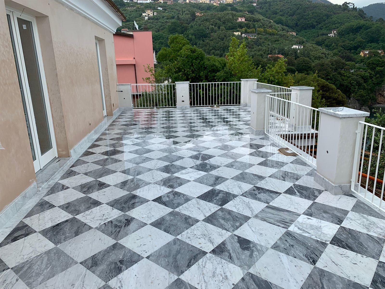 Terrazza Marmo Bianco Carrara